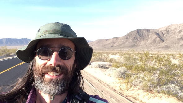 me in the southwestern U.S., on the 2014 Great March for Climate Action